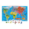 Magnetic World Map Puzzle Spanish Version 92 pieces (wood)